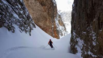 Freerando & freeride skiing in the Dolomites - Azimut Ski Bike Mountain - www.azimut.ski
