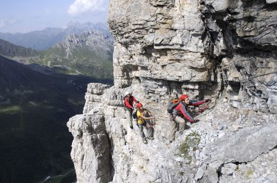 Via ferrata in the Stubai - Tyrol from above - Azimut Ski Bike Mountain - www.azimut.ski