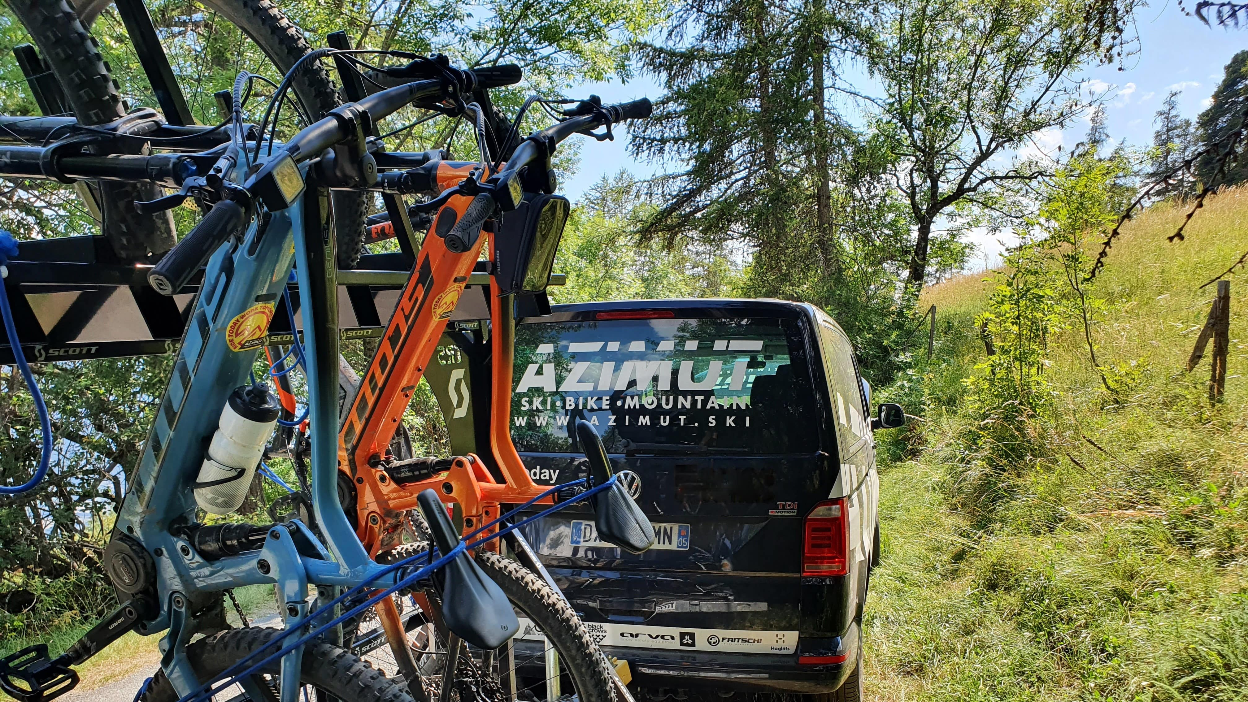 Shuttle avec guide - VTT & E-Bike - Azimut Ski Bike Mountain - www.azimut.ski