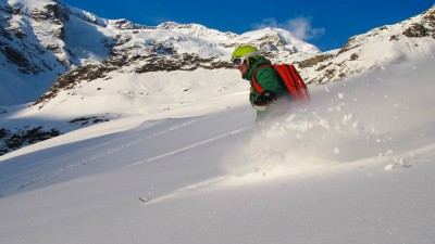 Monterosa Pizza Pasta Polenta - Freerando skiing from hut to hut - Comfort - Azimut Ski Bike Mountain - www.azimut.ski
