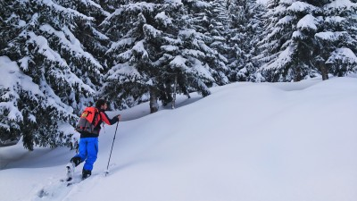 Discover ski touring in the French Alps - Areches beaufort - Azimut Ski Bike Mountain - www.azimut.ski