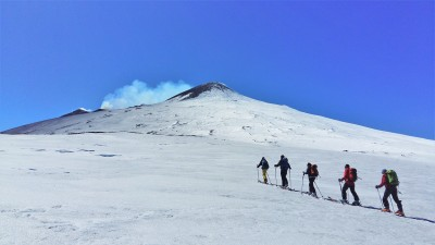 Ski touring on the Etna volcano - Sicily, Italy - Azimut Ski Bike Mountain - www.azimut.ski