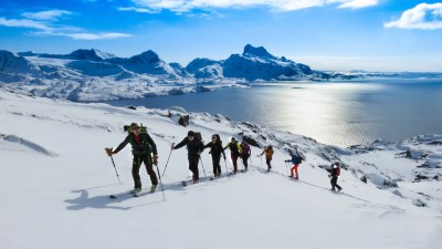 Ski from the sea in the Lyngen Alps - Norway - Azimut Ski Bike Mountain - www.azimut.ski